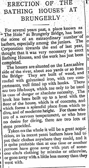 Bathing huts.   June 10th 1898