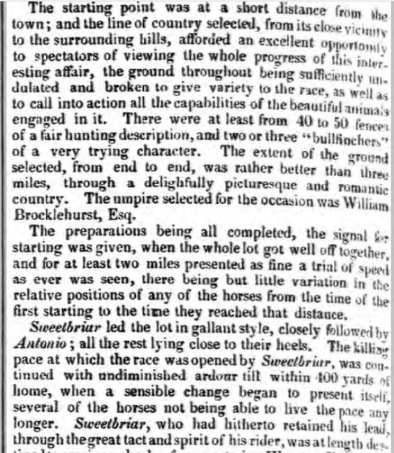 Clitheroe Steeple chase  5-12-1838  B
