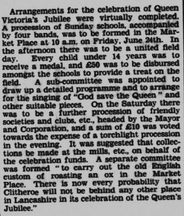 1887-05-18 Preston Guardian  Victoria's Jubilee