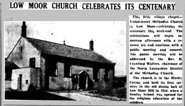 1954-10-01 Union St. Chapel, Low Moor.
