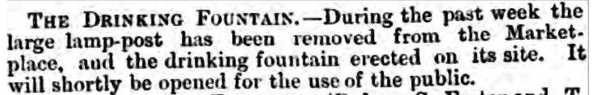 1864-09-10 Fountain to be erected.   Preston Guardian