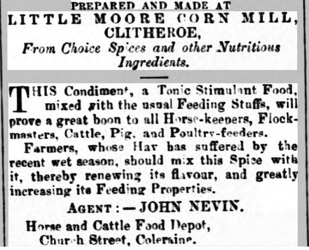 1877-09-08 Advertised far and wide  Coleraine Chronicle