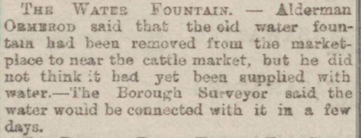 1892-06-18 Fountain moved to cattle market   Burnley Express