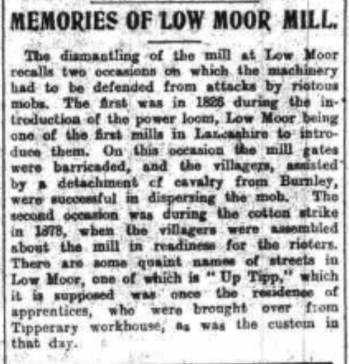 1930-08-16 Low Moor Mill  Burnley Express