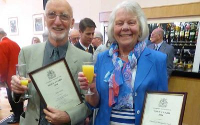 Alan and Dorothy with awards